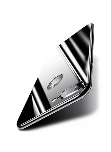 Microsonic Apple iPhone 7 Plus Arka Tam Kaplayan Temperli Cam Koruyucu Siyah Siyah